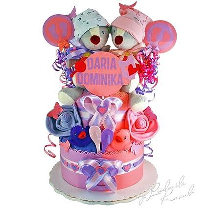 Pañales para tartas/PAMPERS Tarta > > Baby regalo para Géminis en un bonito tono
