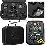 DIY Carrying Case (Small) for Mini Drone Quadcopter, Action Cameras- Pre-cut Pick and Pluck Foam - Will fit Syma, Hubsan, JJRC, Cheerson, Holystone, GoPro, SJCAM- Waterproof | EVA - Maximum Protection