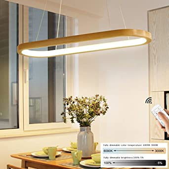 Led Hanging Light Dining Table Pendant Light Wood Rustic Dimmable 33 W With Remote Control Pendant Lamp Height Adjustable Dining Room Study Living Room Kitchen Dining Table Lamp L70 Cm Amazon De Beleuchtung