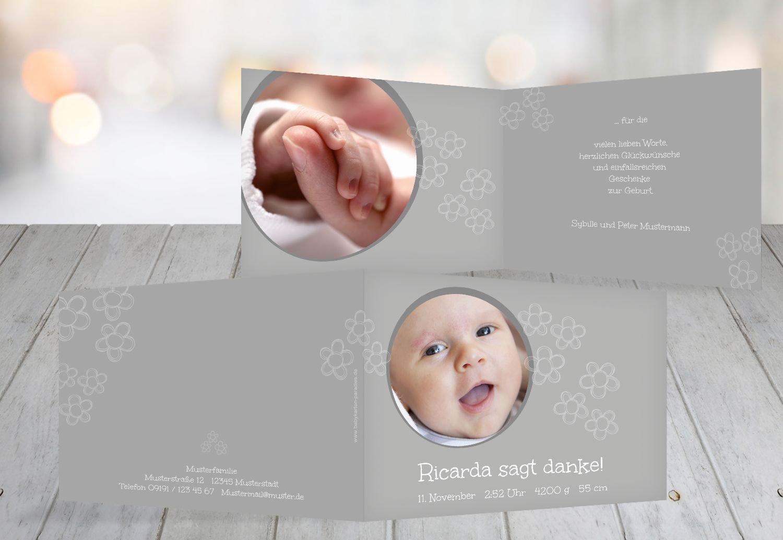 Kartenparadies Danksagung für Geburt Baby Dankeskarte Blüten, hochwertige Danksagungskarte Baby inklusive Umschläge   100 Karten - (Format  148x105 mm) Farbe  Hellbraun B01N28A6OO | Ästhetisches Aussehen  | Exquisite Handwerkskunst  | Sal