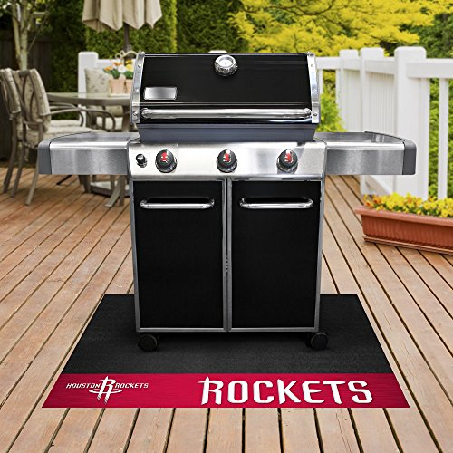 FANMATS - 14205 - NBA - Houston Rockets Grill Mat 26x42 by Fanmats