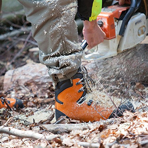 HAIX Herren Schnittschutzschuhe Protector Forest orange, UK 11.0 / EU 46