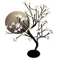 Árvore Abajur Cerejeira 48 Leds Fixo Branco Quente Bivolt