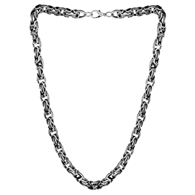 47d1115c9 Voylla Linking Laureate Oxidised Silver Singapore Link Chain Jewelry Gift  for Him, Boy, Men, Father, Brother, Boyfriend, Party Wear, Daily Wear:  Amazon.in: ...