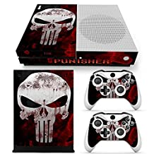 Xbox One S Console Skin Decal Sticker The Punisher + 2 Controller Skins Set
