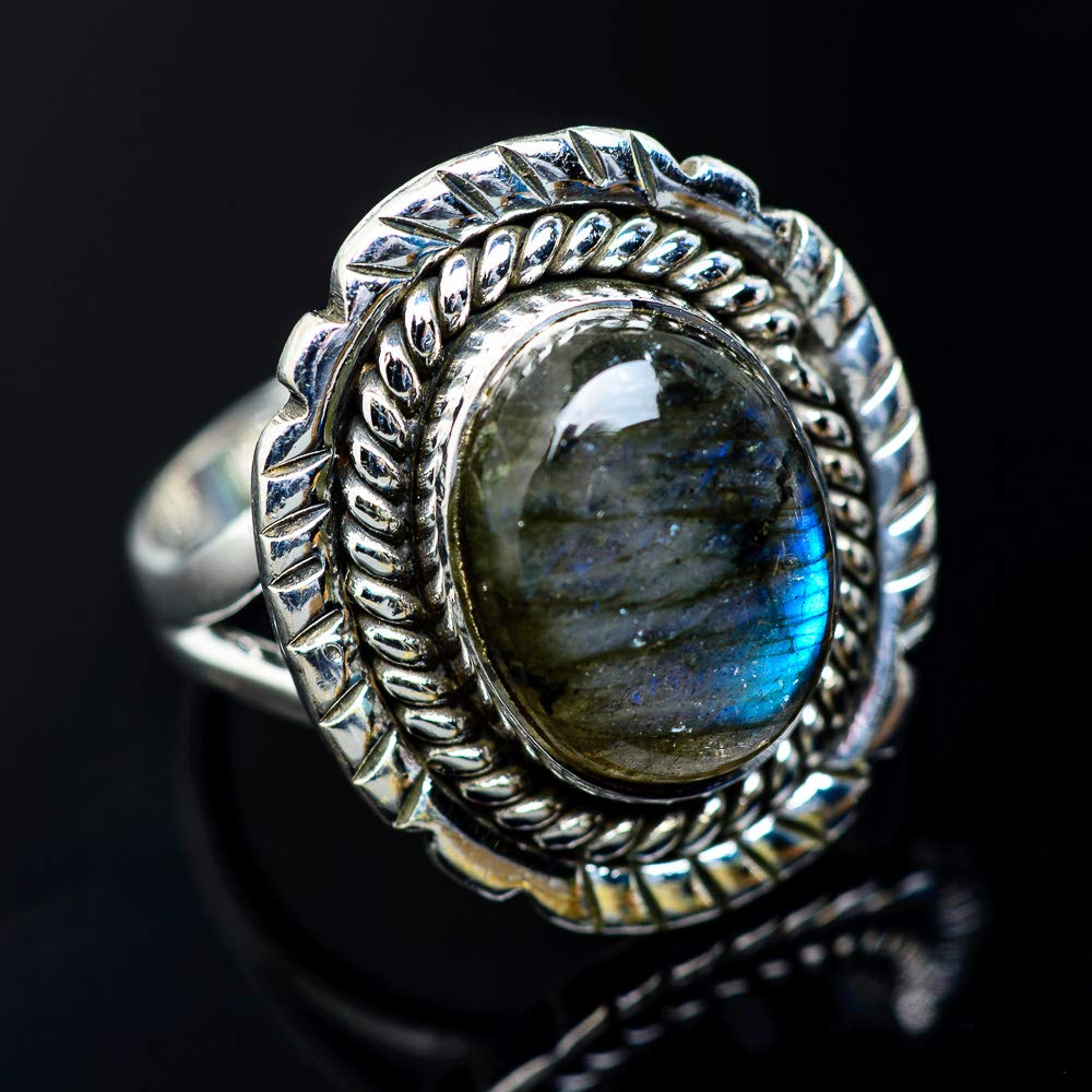 Ana Silver Co Labradorite Ring Size 8 Bohemian 925 Sterling Silver - Handmade Jewelry Vintage RING942058