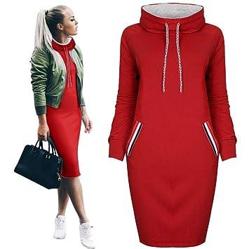 Pet Supplies : Mini Dress For Women 2017, BeautyVan Beautiful Design Women Casual Winter Shirt Long Sleeve Mini Dress (M, Pink) : Amazon.com
