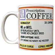 Rx Prescription Coffee Dr. Caffeine Mug White