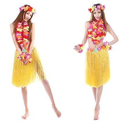 c958ed3fbd9 Buy Baby And Blossoms Hula Grass Skirt Hawaiian Dance Theme Party ...