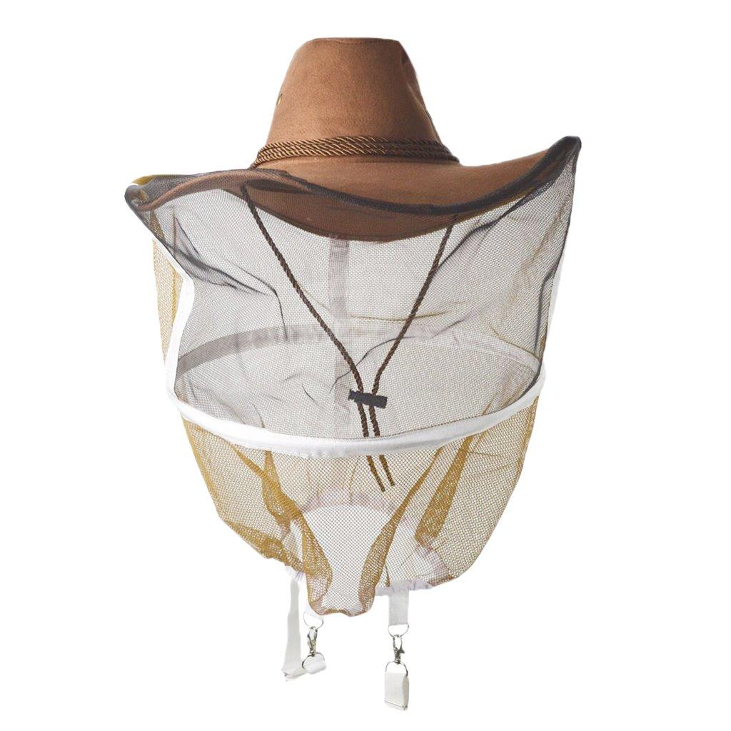 Dovewill Breathable Type Beekeeping Veil Cow Boy Beekeeper Hat Costume Protector Suit