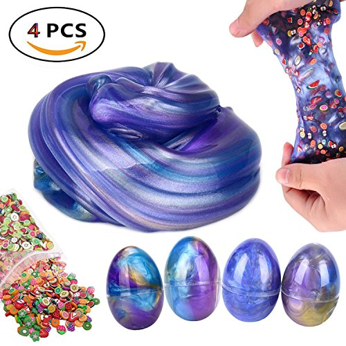 SuperFuN Jumbo Galaxy Egg Slime Swirl Sludge Toy Non-Scented