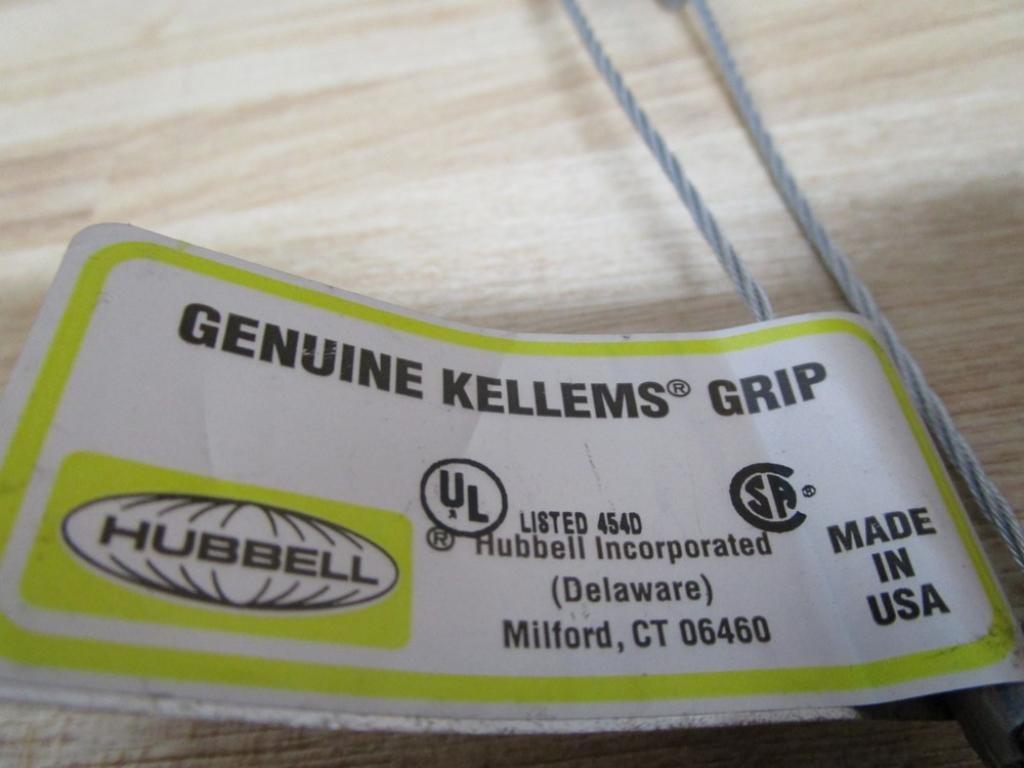 Hubbell Bus Drop Grip Mesh Details about  /Lot of 2 Kellems 073-04-1281