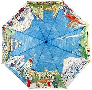 GLODEALS Van Gogh Masterpiece Oil Painting Automatic 3 Folding Parasol Sun/Rain Umbrella Anti-UV Protection Umbrella for Ladies from Glodeals