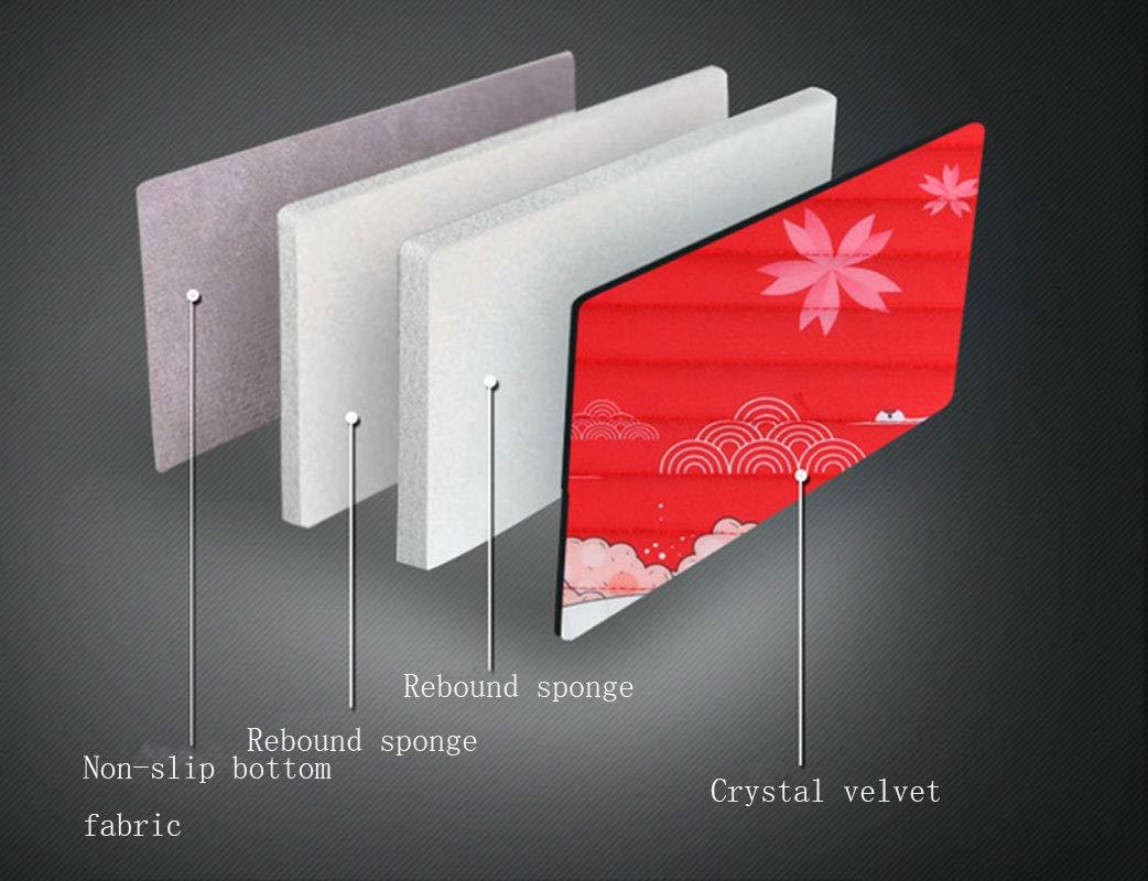 LONG Coussin de si/ège de Voiture Quatre Saisons Universal Protection Pad si/ège de Voiture Trois pi/èces Cristal Velours Coussin Style Japonais,Black