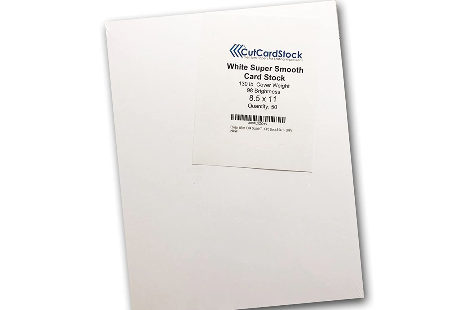 amazon com cougar white 130 double thick card stock 8 5x11 50
