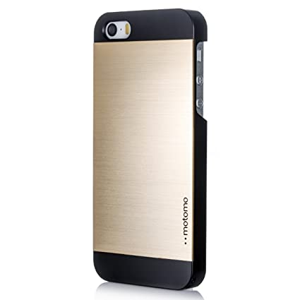 detailed pictures 1c888 2fb57 Gold] MOTOMO [Brushed Aluminum] Apple iPhone 5S Case Protective ...