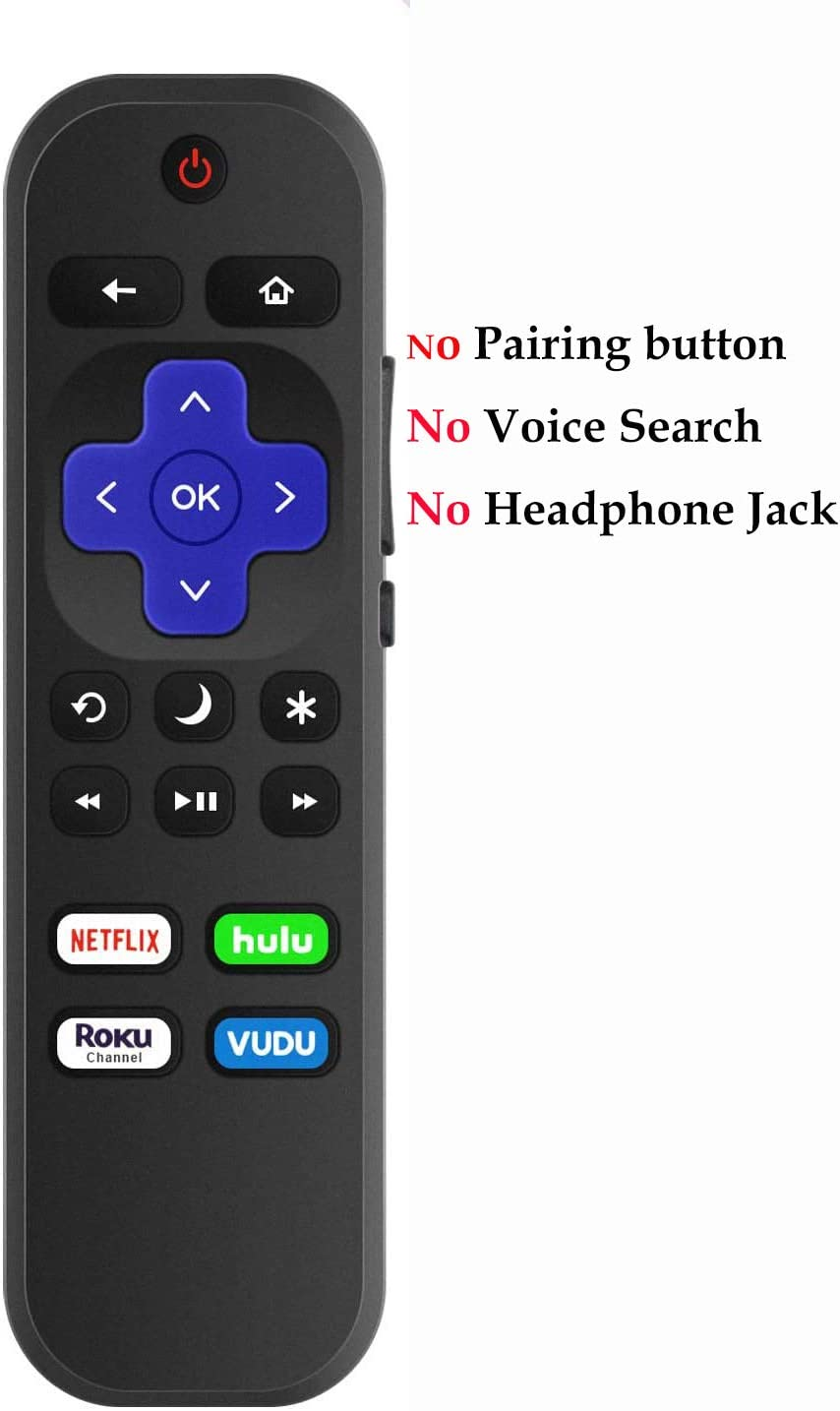 Remote Control Replacement for Hisense Roku TV Universal for All Hisense 4k Roku TV 32H4E1 32H4F 32H4030F 40H4030F 43H4030F 43R7080E 50R6E 50R7E 55R6000E 58R6E 60R5800E 65R6D 65R6E 75R6E1