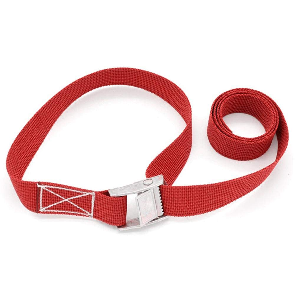Teabelle 2m Correa de Amarre Cintur/ón de Amarre Correas de Carga para Equipaje de la Motocicleta Hebilla de Coche rojo