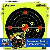 "10 reactive splatter targets - BEEWARE Targets (THICKER - BRIGHTER - BETTER) 12"" Circle Fluorescent Reactive Splatter Targets for Shooting Indoor/Outdoor Ranges (10 Pack)"