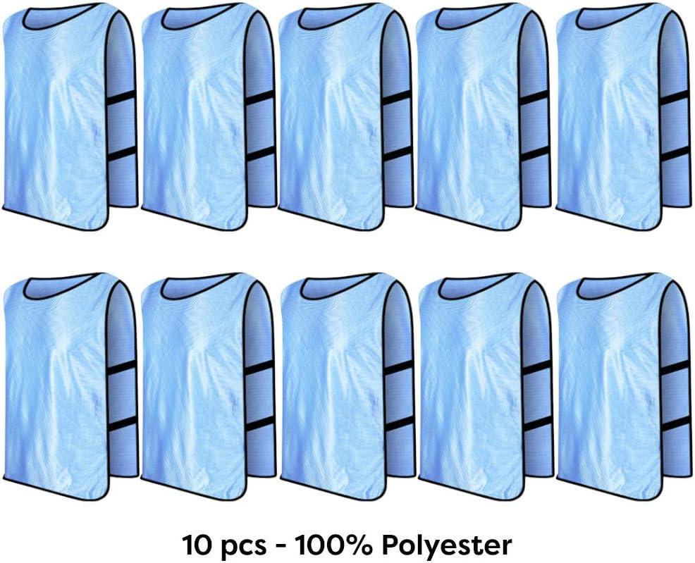 D-Work 10 chasubles dentra/înement ajour/és Polyester pour Adultes sp/écial Sport collectif