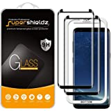 (2 Pack) Supershieldz for Samsung Galaxy S8 Tempered Glass Screen Protector with (Easy Installation Tray) 0.33mm, Anti Scratch, Bubble Free (Black)
