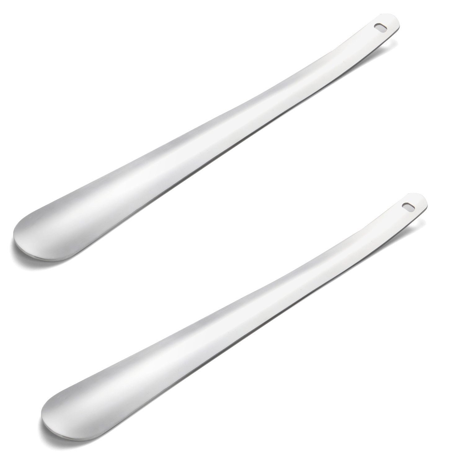 Long Handled Shoe Horn by Rirether: 2Pack Sturdy Stainless Steel Shoehorn for Shoes & Boots|Extra Long Non Bending Handle & Perfect Angle For Heel Sliding, Great for Men Women Seniors & Pregnancy