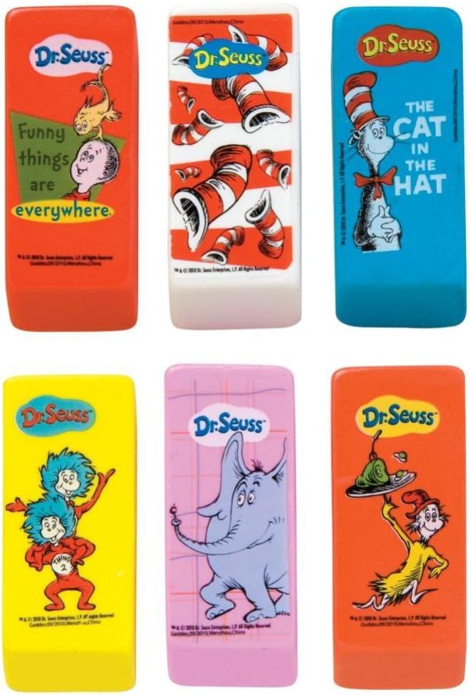 Raymond Geddes Dr. Seuss Beveled Eraser (Pack of 48)