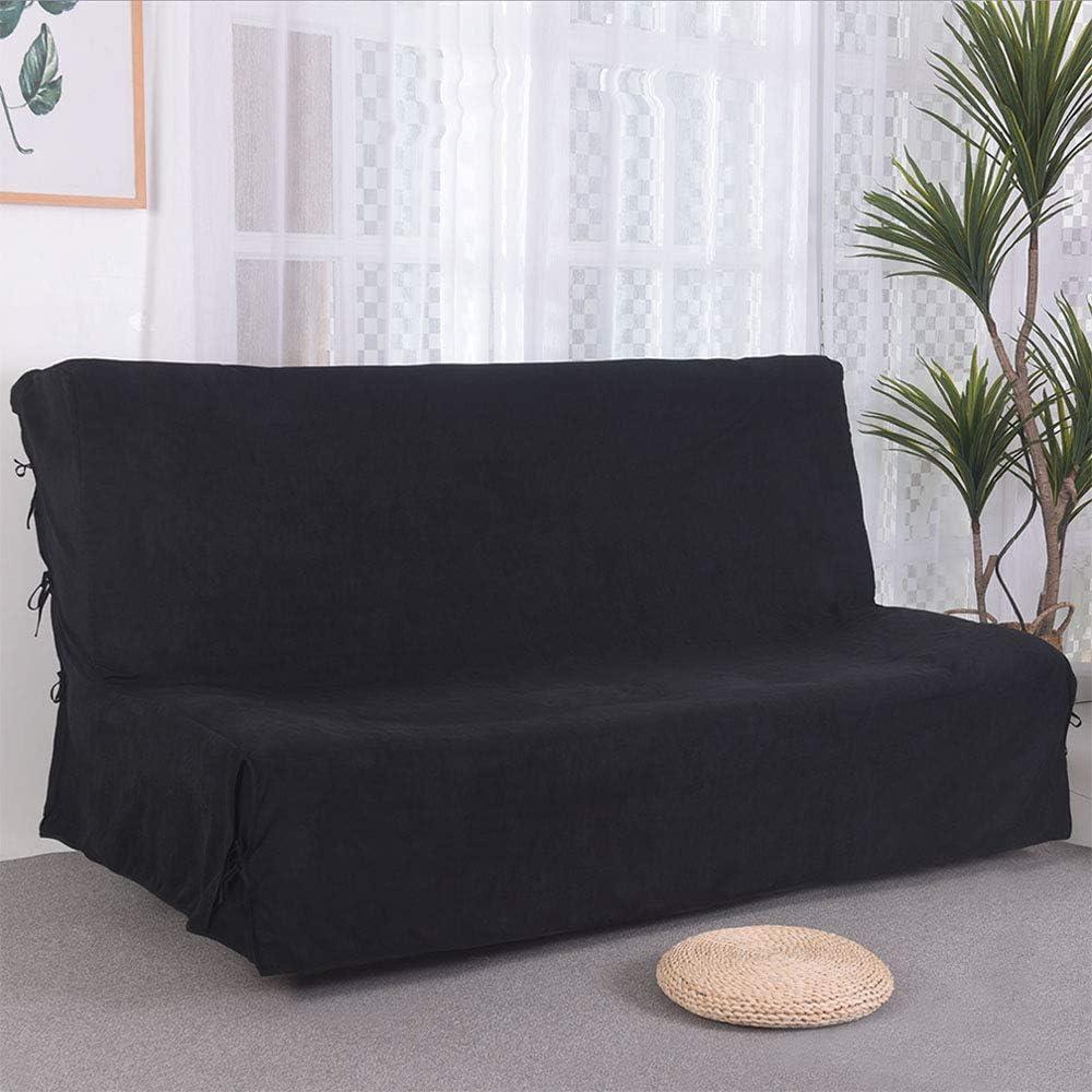 JOJOR - Funda de sofá de Clic-clac 3 plazas (140 x 200 cm, Acolchada), Gris