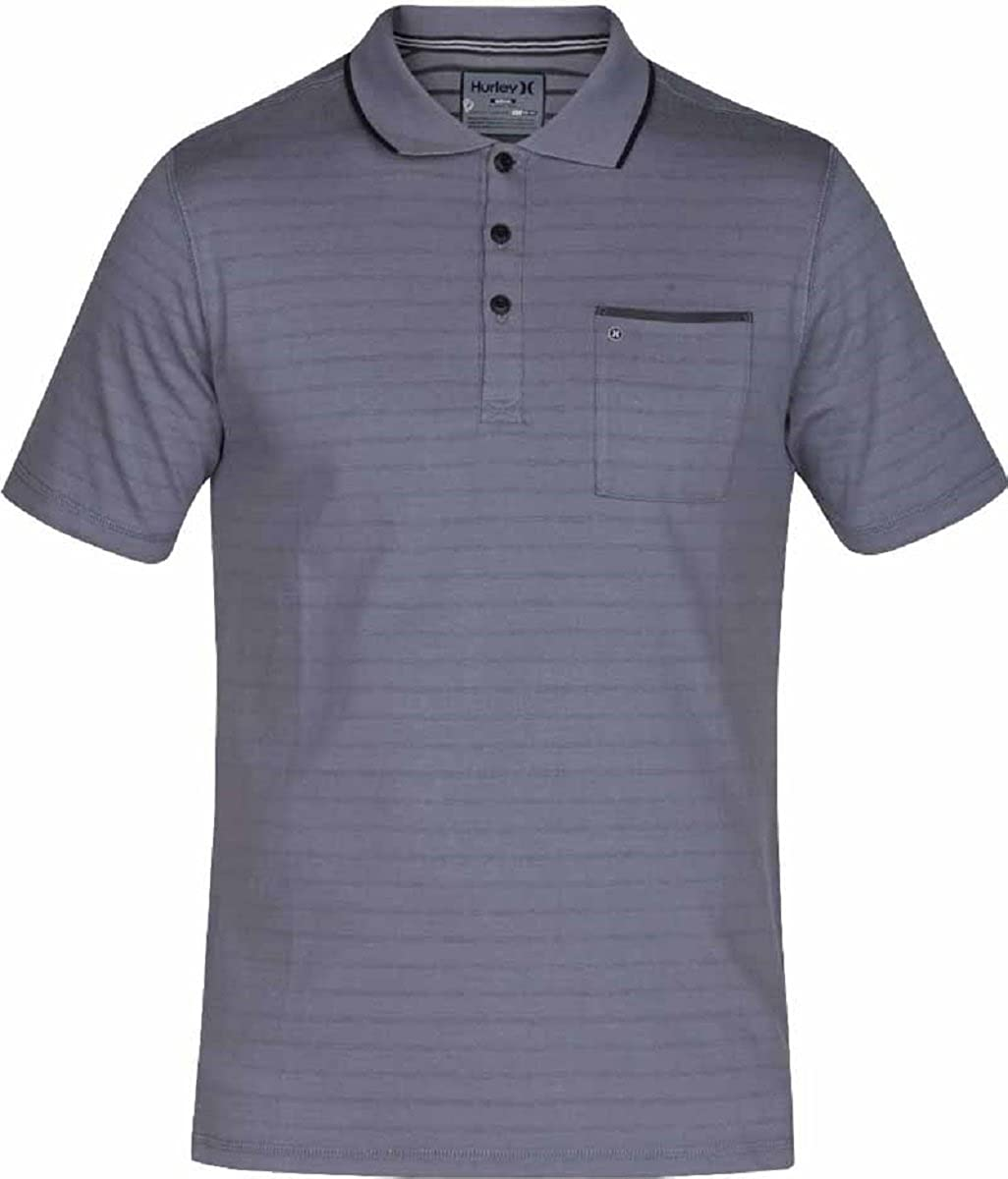 0126b42f7fb Dress yourself up in classic stripes with the Hurley® Dri-FIT® Hype Polo  Shirt. This cotton-poly blend polo can be worn from office to golf course  with its ...