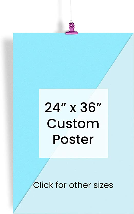 """24x36/"""" Custom Printed Satin MATTE Poster YOUR PHOTO POSTER Image picture art"""