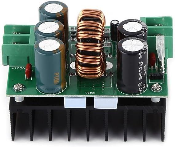 Junecat 1200W 20A DC convertidor Elevador Step-up M/ódulo de alimentaci/ón 10-60V EN Fuera 12-80V a Bordo Regulador