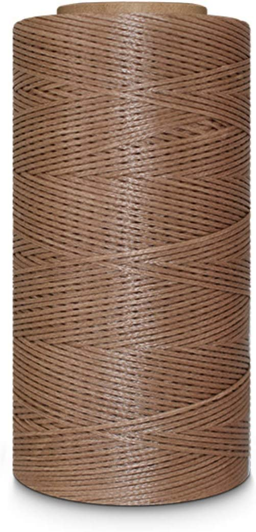 284YARDS 1MM WAXED SEWING THREAD STRING CORDS FOR LEATHER STITCHING LEATHERWARE