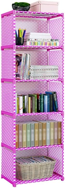 Bookshelf Simple multi-function storage rack student bookcase dormitory household rack easy to clean easy installation Color : A, Size : 41 * 29 * 125CM