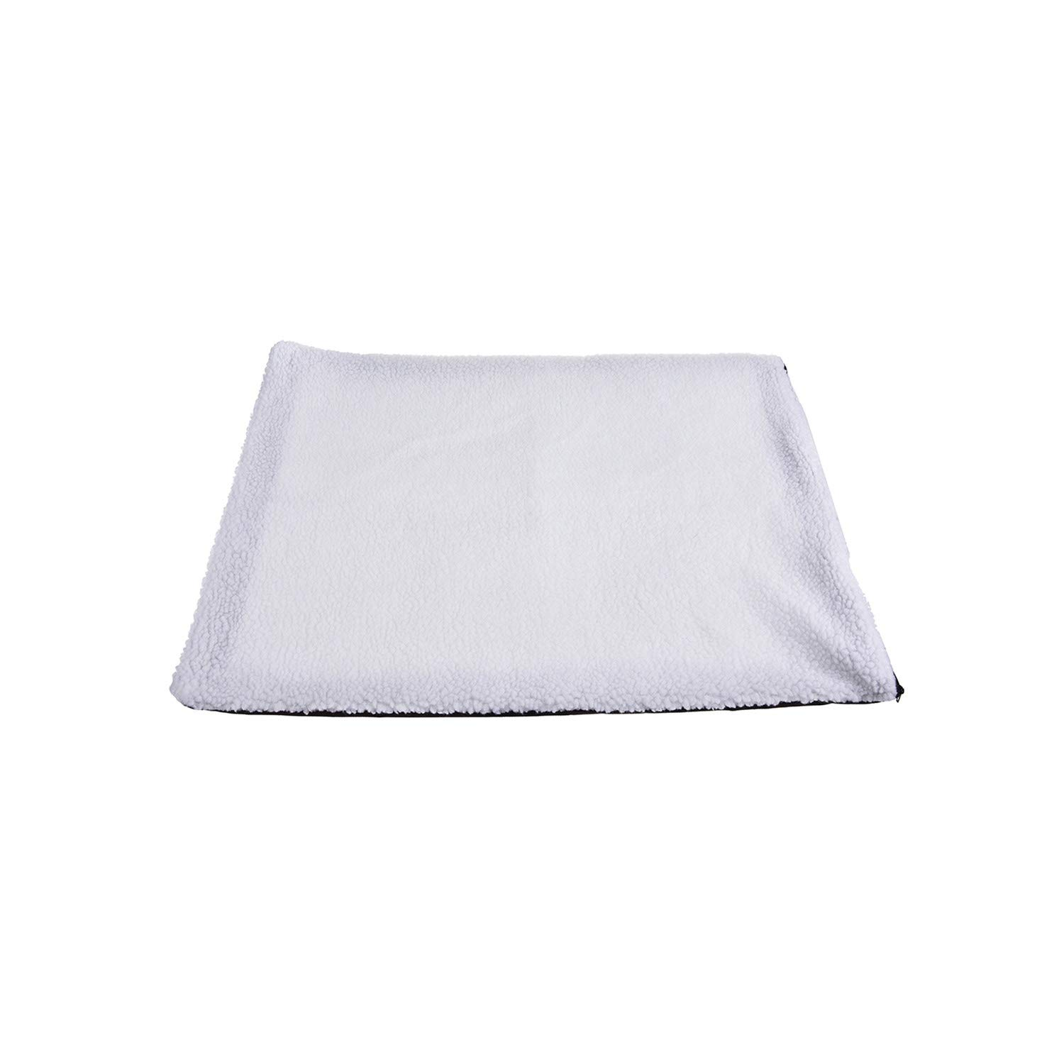 Self Heating Dog Cat Blanket Pet Bed Thermal Washable No Electric Blanket Super Soft Puppy Kitten Blanket Beds Mat,White,S