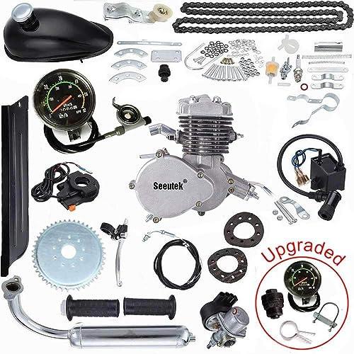 Seeutek PK80 80cc Bicycle Engine Kit 2-Stroke Gas Motorized Bike Motor Kit