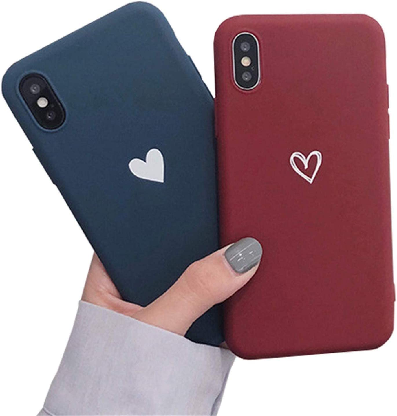 Blau Homikon Silikon H/ülle Kreative Paar Liebe Handyh/ülle Soft Flexibles Weich Ultra D/ünn Schlank Schutzh/ülle Sto/ßfest Case Back Cover Bumper Tasche Schale Kompatibel mit iPhone 6 Plus//6S Plus