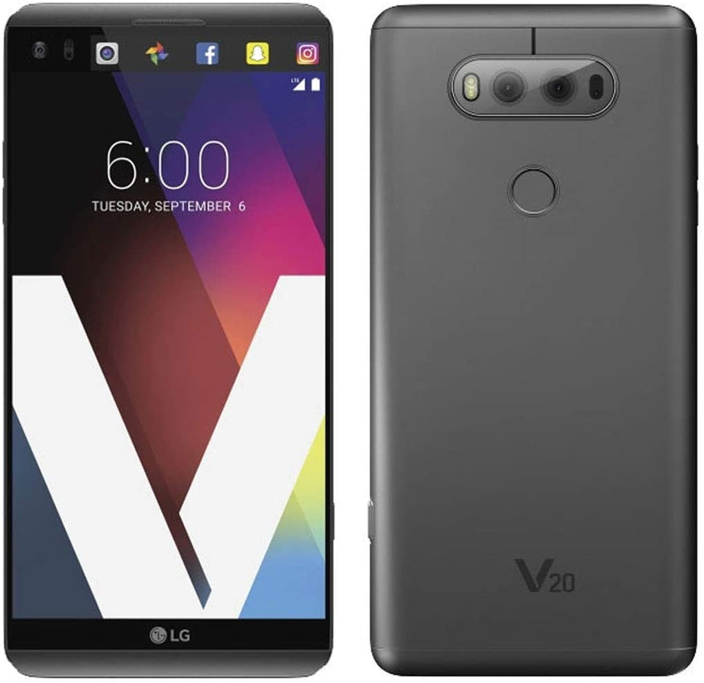 LG V20 64GB 5.7-inch Smartphone with Superior Video, Photography, Next-Level Audio - Unlocked for All GSM Carriers Worldwide (Titan Gray)