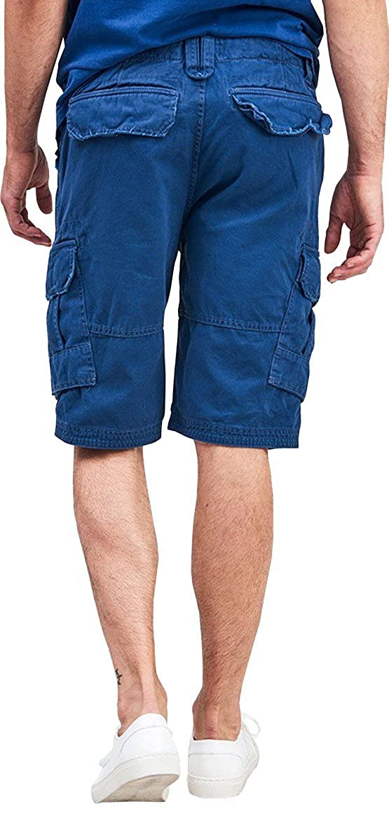 The Project Garments Mens Cotton Cargo Distressed Shorts