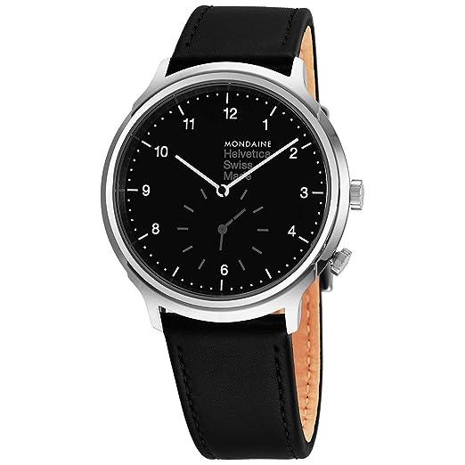 Mondaine Helvetica No1 Reloj de Hombre Cuarzo 40mm Correa de Cuero MH1R2020LB: Amazon.es: Relojes