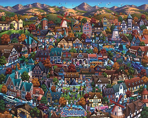 Jigsaw Puzzle - Solvang Danish Village 1000 Pc By Dowdle Folk Art by Dowdle Folk Art