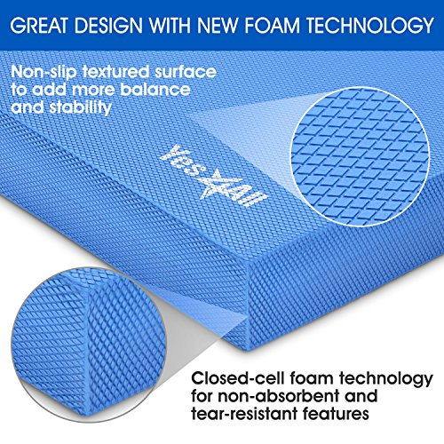 Yes4All Balance Foam Pads – Choice: Large, XL and Multi Color