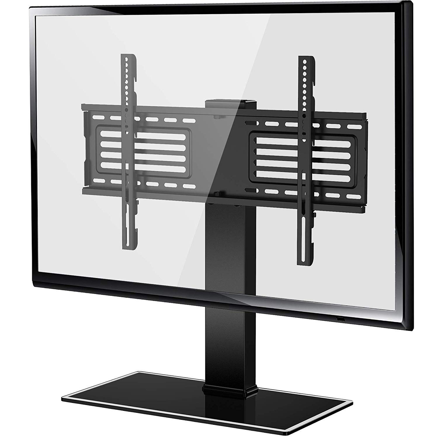 FITUEYES Universal TV Stand with Swivel Mount for 32 inch to 65 inch Flat Screen Tvs Xbox One tv Componentand Height Adjustable Black FTT105001GB by FITUEYES