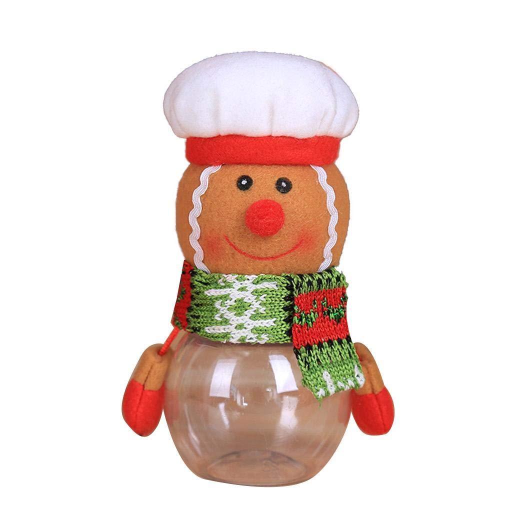 pioleUK Vaso di immagazzinaggio alimento del Biscotto del Regalo della Decorazione della casa della Latta di Candy Sveglia di Natale Barattoli