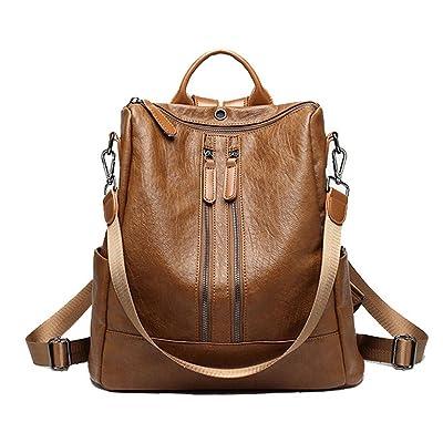 d021c65d65d6 on sale Leparvi PU leather backpack Purse Ladies Handbags for Women Rucksack  Shoulder Bag. Braitzm Unisex Outdoor Sport Shoulder Bag Fashion ...