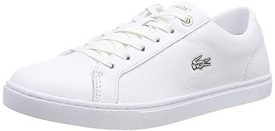 e70d9524bc36b Lacoste Snowcourt RQT White Leather Womens Trainers Shoes  Amazon.co ...