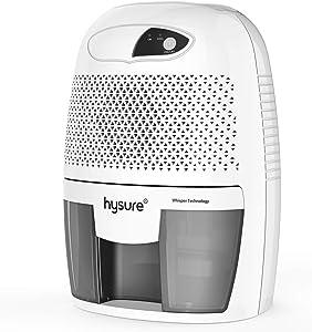 hysure Household 500ml Portable Mini Dehumidifie Electric, Deshumidificador, Home Dehumidifier for Bathroom Crawl Space Bedroom RV Baby Room Gray