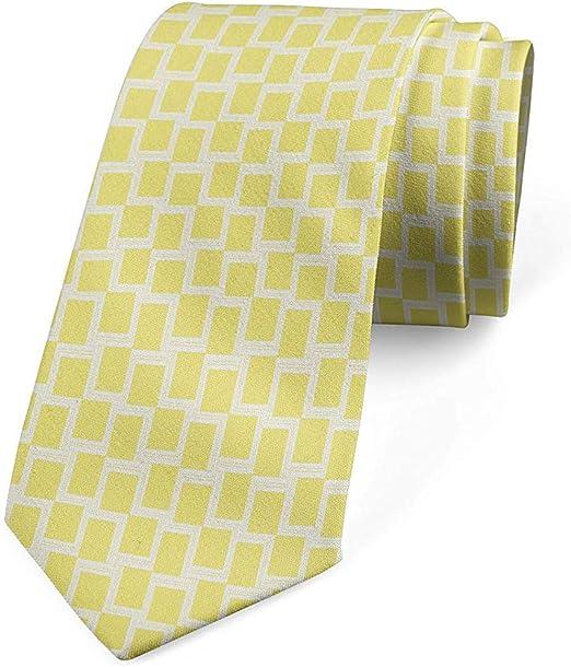 Corbata, cuadrícula abstracta con cáscara de huevo amarilla ...
