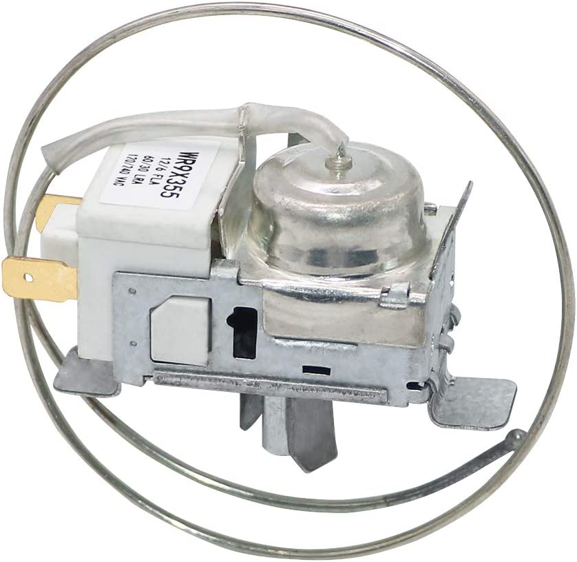 Refrigerator Temperature Control Thermostat WR9X355 Universal Cold Control Replacement Compatible with GE Hotpoint AP2061636,PS310768