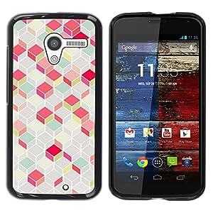 Be Good Phone Accessory // Dura Cáscara cubierta Protectora Caso Carcasa Funda de Protección para Motorola Moto X 1 1st GEN I XT1058 XT1053 XT1052 XT1056 XT1060 XT1055 // Polygon Pa