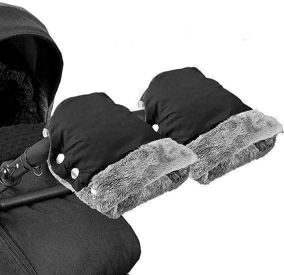 Une paire Mture Poussette Gants Antigel Gants B/éb/é Chauffe-Mains Protection des Mains Moufle Poussette pour Canne Poign/ée Hiver Landau Gant Poussette Doux Chaud Coupe-Vent et Imperm/éable Gant